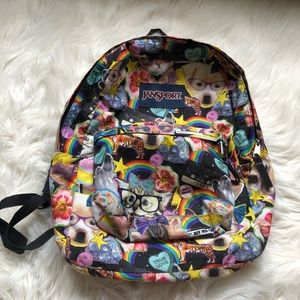 JanSport Backpack Cats Dogs Nerdy Cute